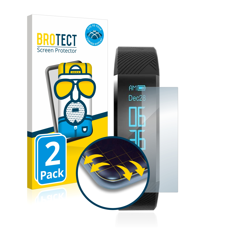 2x BROTECT Flex  Full-Cover matná ochranná fólie pro AGPtek FT01