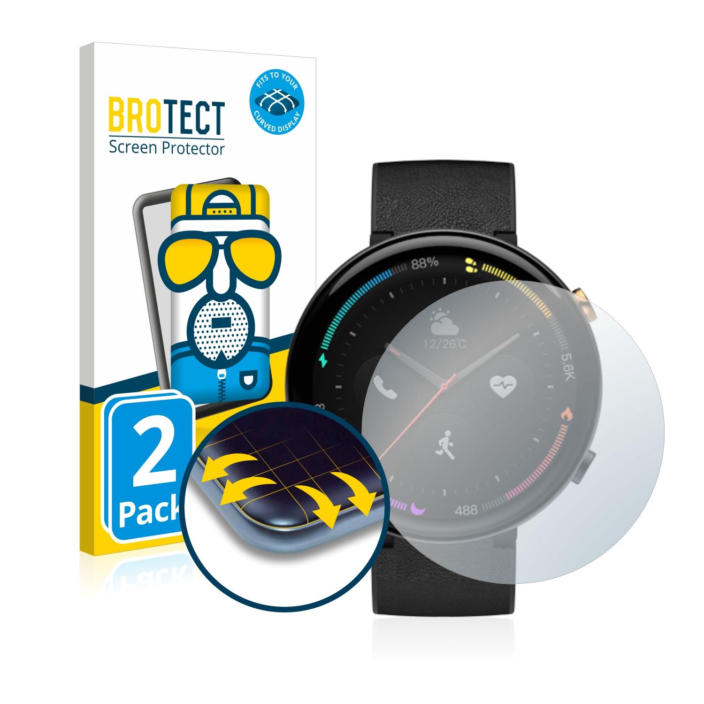 2x BROTECT Flex  Full-Cover matná ochranná fólie pro Amazfit 2 ECG