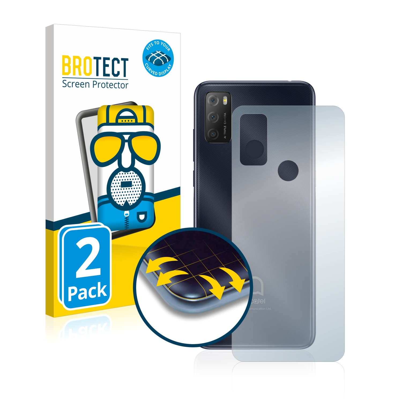 2x BROTECT Flex  Full-Cover matná ochranná fólie pro Alcatel 1S 2021 (zadní strana)