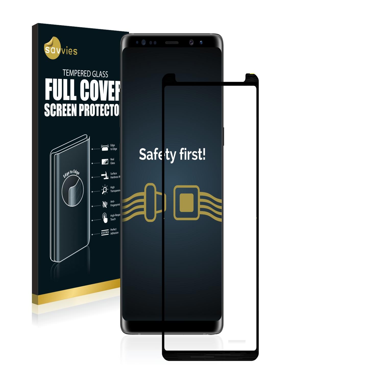 Savvies® Xtreme Glass 3D Full Cover 3D tvrzené sklo pro Samsung Galaxy Note 8 (černý)