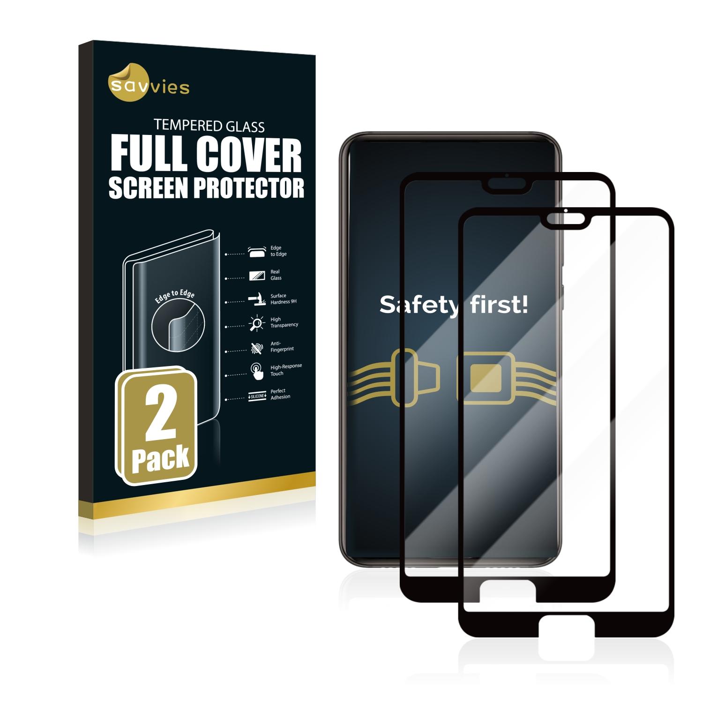 2x Savvies® Xtreme Glass 2.5D Full Cover 3D tvrzené sklo pro Huawei P20 Pro (černý)