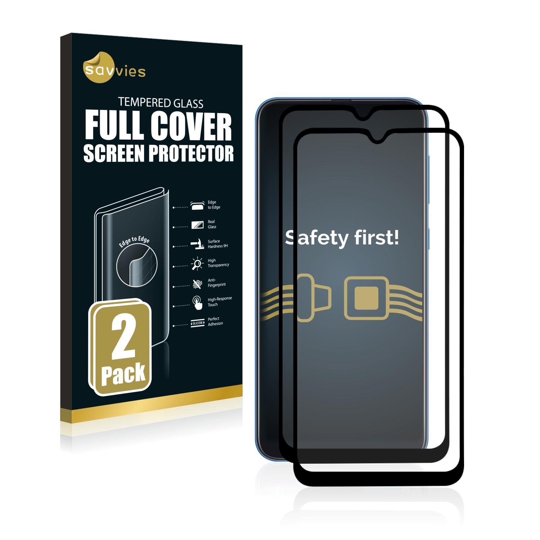 2x Savvies® Xtreme Glass 2.5D Full Cover 3D tvrzené sklo pro Samsung Galaxy A50 (černý)