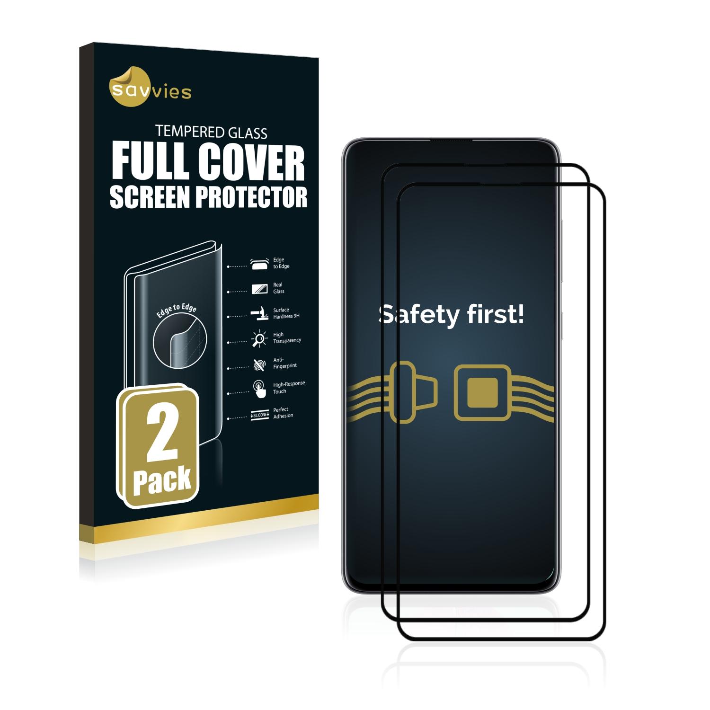 2x Savvies® Xtreme Glass 2.5D Full Cover 3D tvrzené sklo pro Samsung Galaxy A51 (černý)