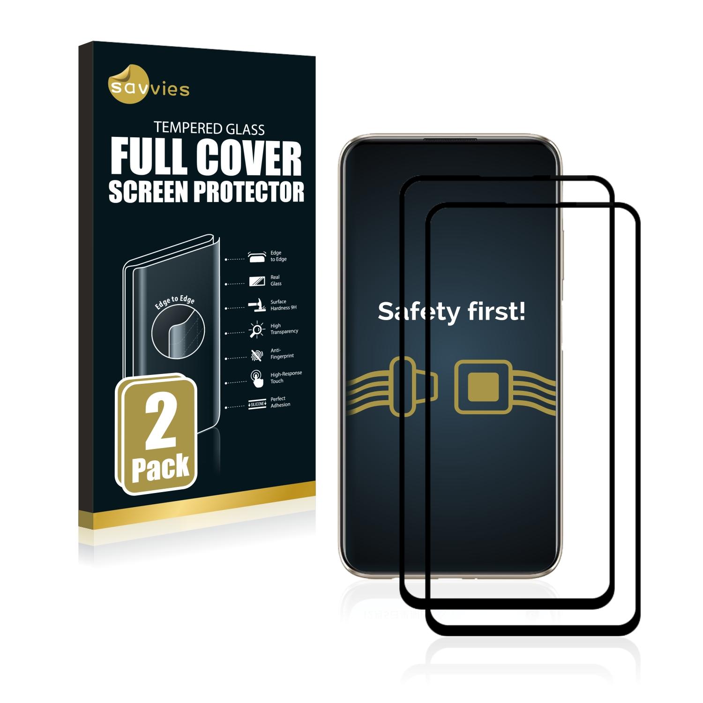 2x Savvies® Xtreme Glass 2.5D Full Cover 3D tvrzené sklo pro Huawei P40 Lite (černý)