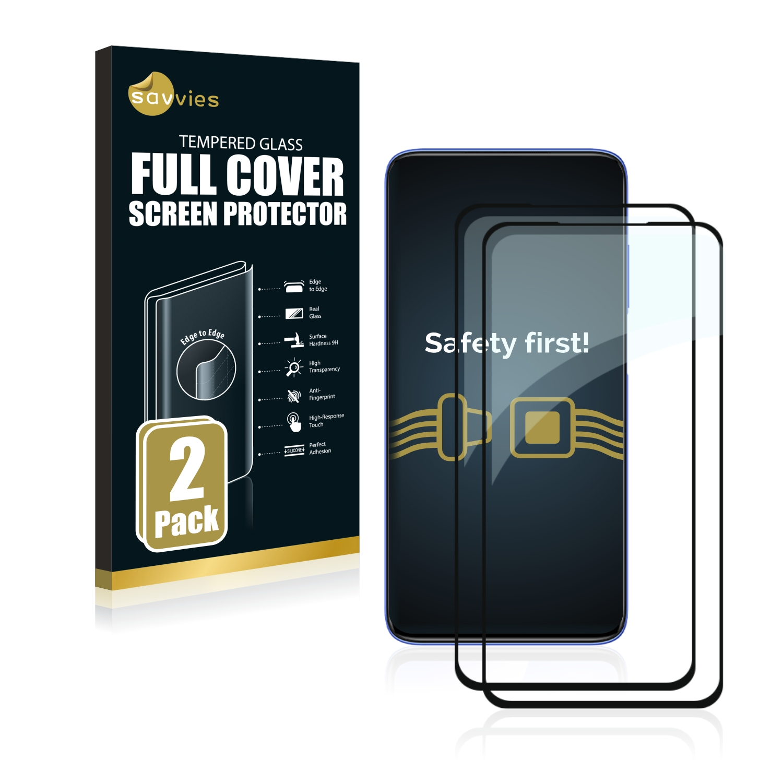 2x Savvies® Xtreme Glass 2.5D Full Cover 3D tvrzené sklo pro Xiaomi Poco X2 (černý)