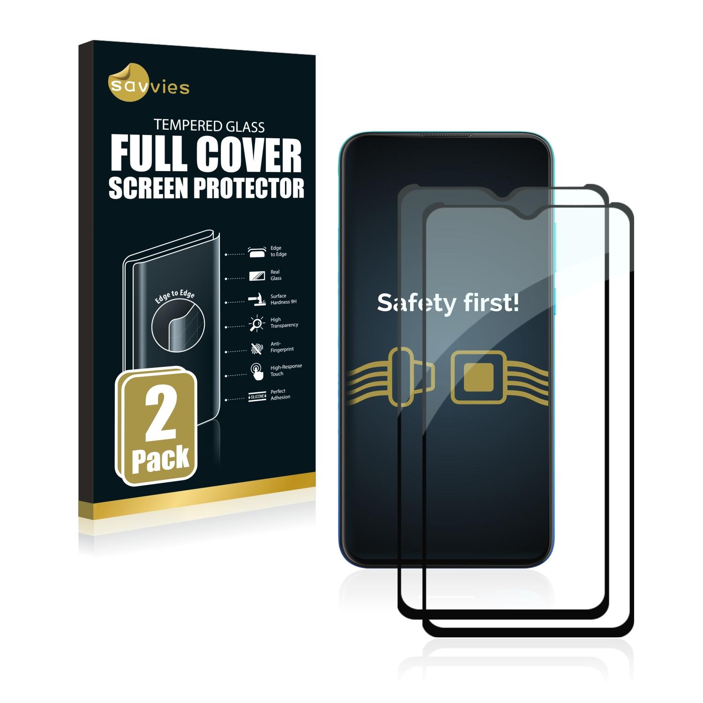 2x Savvies® Xtreme Glass 2.5D Full Cover 3D tvrzené sklo pro Motorola Moto G8 Power Lite (černý)