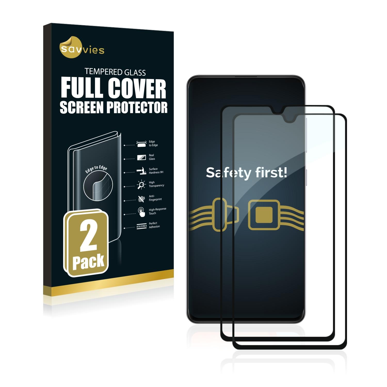 2x Savvies® Xtreme Glass 2.5D Full Cover 3D tvrzené sklo pro Samsung Galaxy A41 (černý)