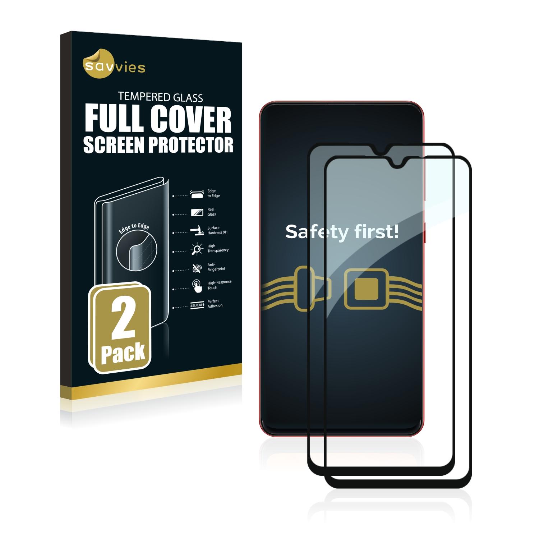 2x Savvies® Xtreme Glass 2.5D Full Cover 3D tvrzené sklo pro Samsung Galaxy A31 (černý)