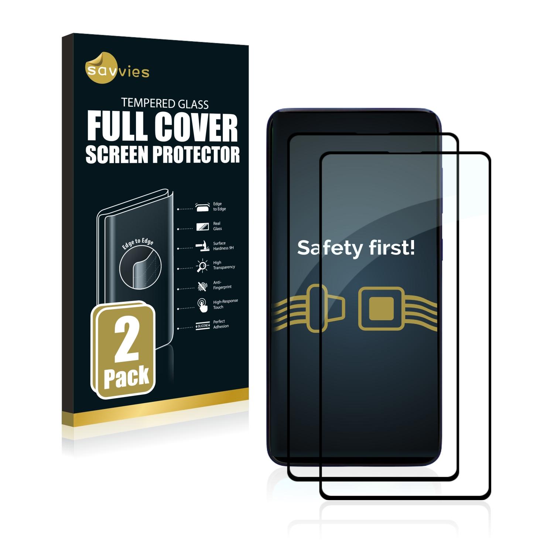 2x Savvies® Xtreme Glass 2.5D Full Cover 3D tvrzené sklo pro Samsung Galaxy M51 (černý)