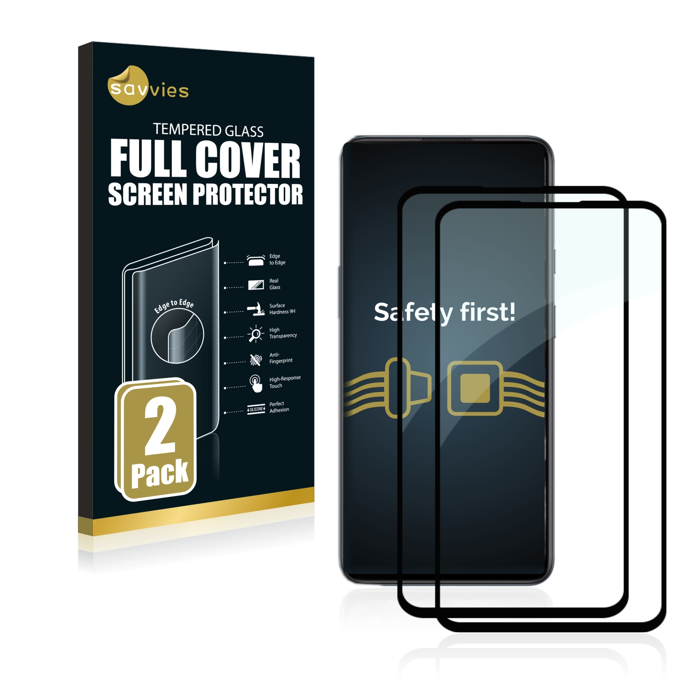 2x Savvies Xtreme Glass 2.5D Full Cover 3D tvrzené sklo pro OnePlus Nord (černý)