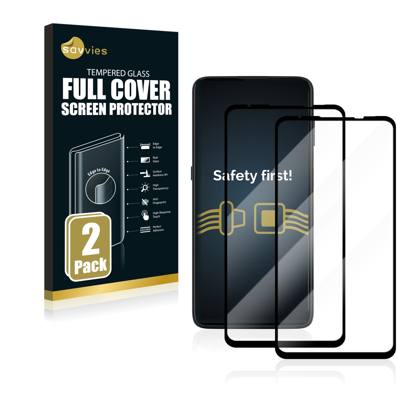 2x Savvies Xtreme Glass 2.5D Full Cover 3D tvrzené sklo pro Motorola Moto G9 Plus (černý)