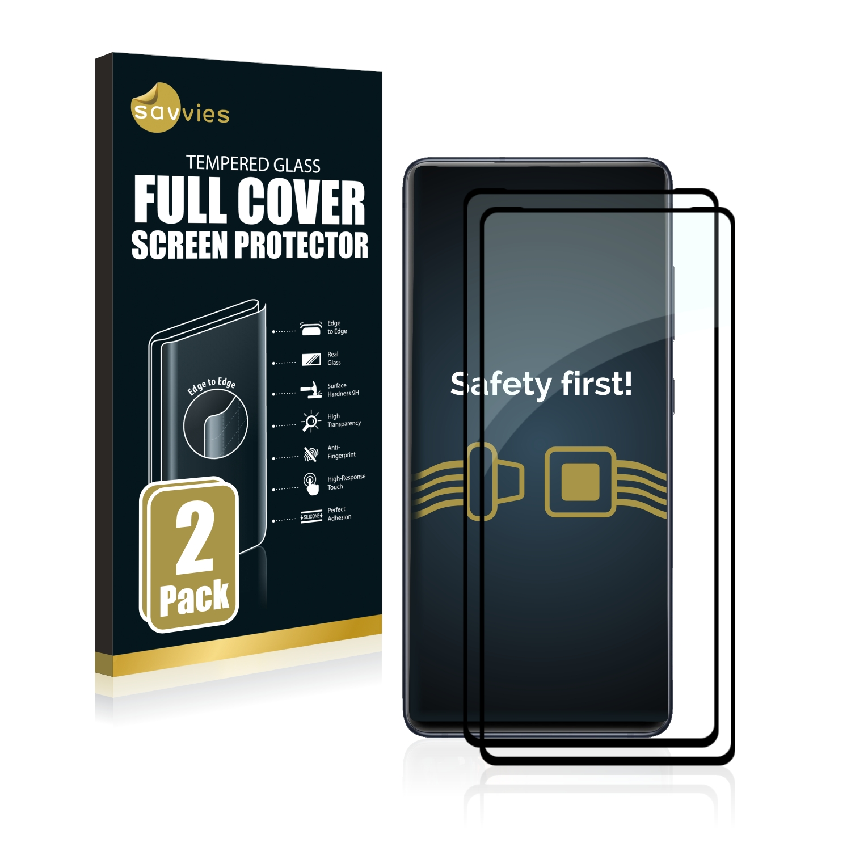 2x Savvies Xtreme Glass 2.5D Full Cover 3D tvrzené sklo pro Samsung Galaxy S20 FE 5G (černý)