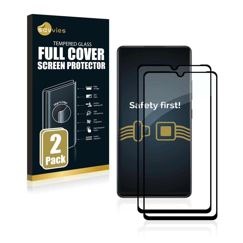 2x Savvies Xtreme Glass 2.5D Full Cover 3D tvrzené sklo pro Samsung Galaxy A42 (černý)