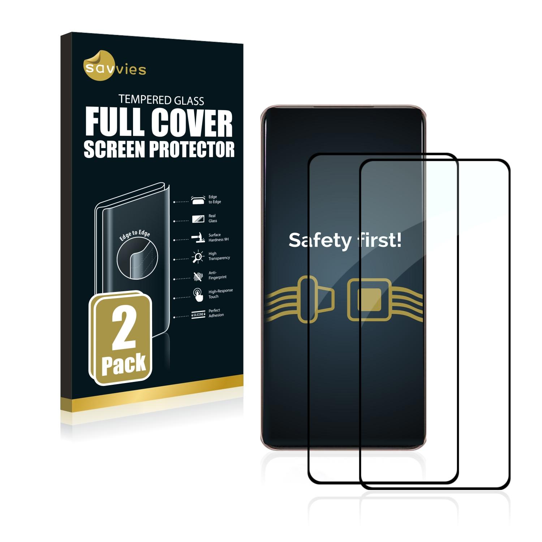 2x Savvies Xtreme Glass 3D Full Cover 3D tvrzené sklo pro Samsung Galaxy S21 Plus 5G (černý)